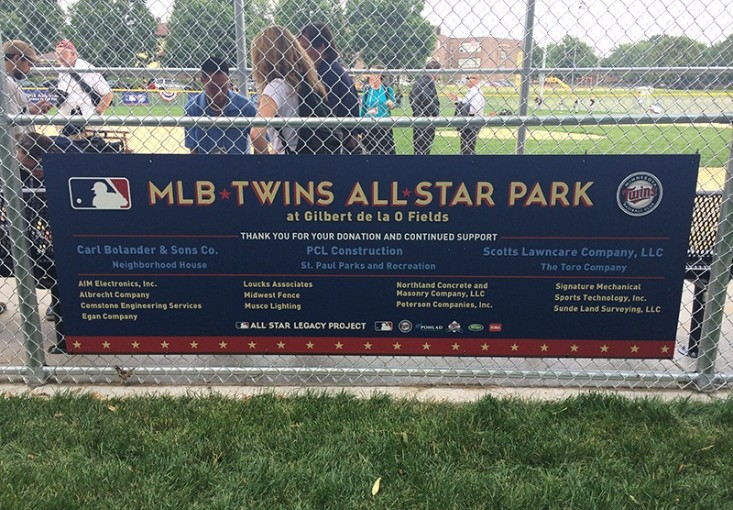 Loucks provides in-kind services at MLB Twins All Star Park