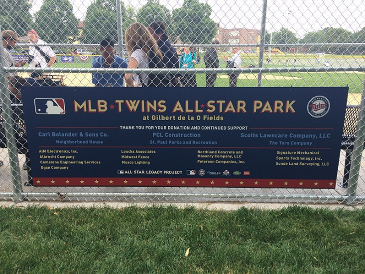 Loucks provides in-kind services at MLB Twins All Star Park 2