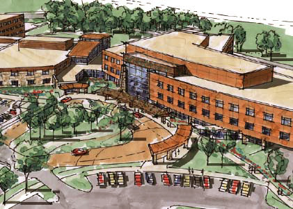 Maple Grove Hospital Rendering by Loucks