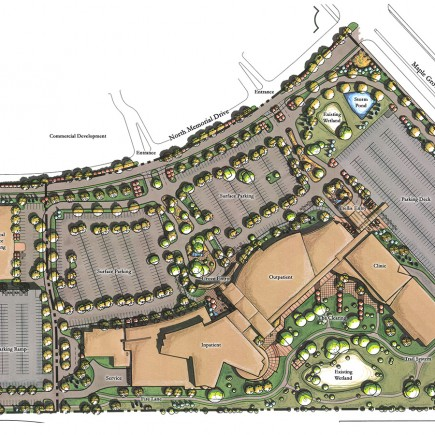 Maple Grove Hospital Parking and Medical Building Buildout Design