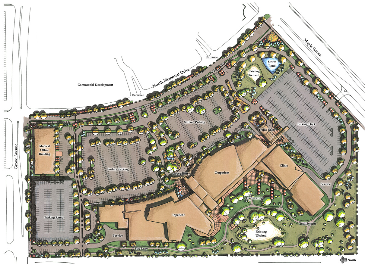 Civil Engineering For Maple Grove Hospital Mn Planning