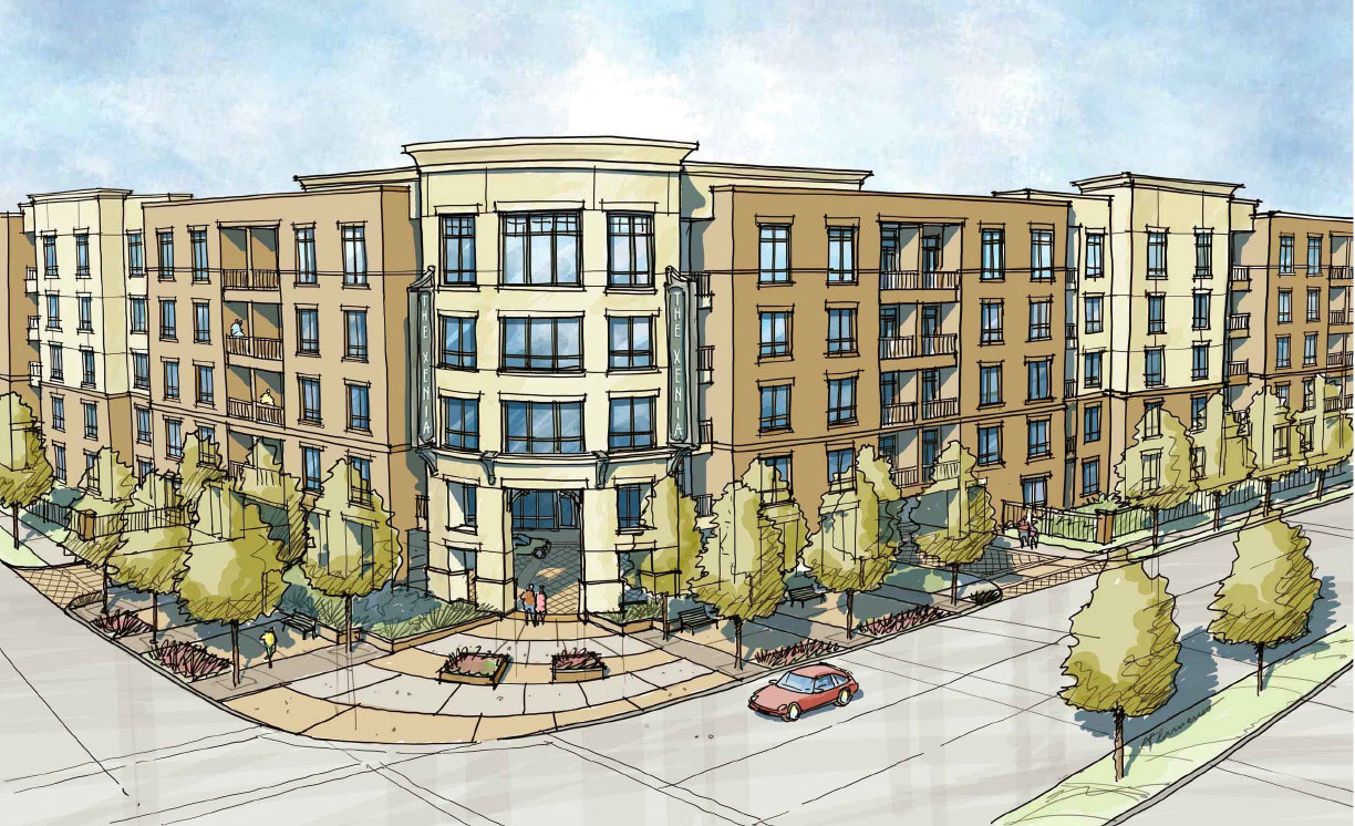 Rendering of The Xenia Apartment Complex in Golden Valley, Minnesota